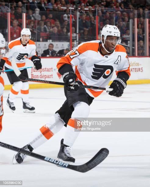Wayne Simmonds of the Philadelphia Flyers skates against the Ottawa Senators at Canadian Tire Centre on October 10 2018 in Ottawa Ontario Canada