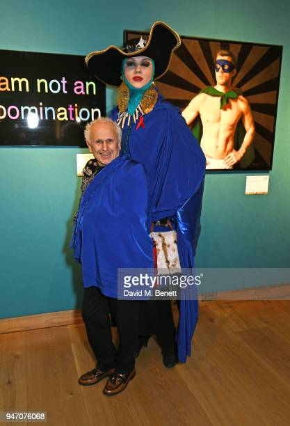 Wayne Sleep and Daniel Lismmore attend the Terrence Higgins Trust annual charity auction raising vital funds to support people living with and...