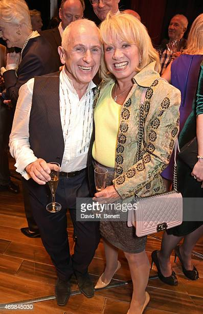 Wayne Sleep and Elaine Paige attend a post show drinks reception on stage following the press night performance of 'Gypsy' at The Savoy Theatre on...