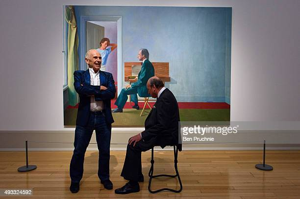 Wayne Sleep and George Lawson pose for members of the press in front of David Hockney's portrait George Lawson and Wayne Sleep 19725 at Tate Britain...