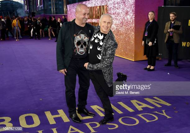 Wayne Sleep and Jose Bergera attend the World Premiere of Bohemian Rhapsody at The SSE Arena Wembley on October 23 2018 in London England
