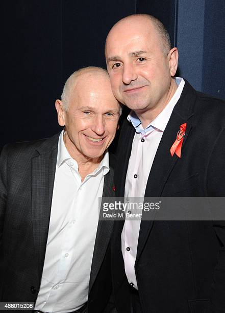 Wayne Sleep and Jose Bergera attends the Terrence Higgins Trust auction at Christie's King Street on March 12 2015 in London England