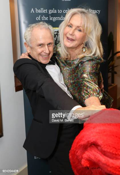 Wayne Sleep and Liz Brewer attend the Russian Ballet Icons Gala 2018 at London Coliseum on February 25 2018 in London England