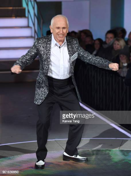 Wayne Sleep enters the Celebrity Big Brother house at Elstree Studios on January 5 2018 in Borehamwood England