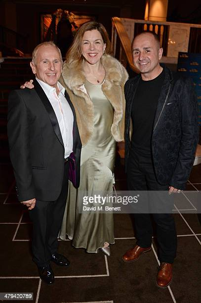 Wayne Sleep Janie Dee and Jose Bergera attend an after party celebrating the press night performance of 'Blithe Spirit' at the Rosewood Hotel on...
