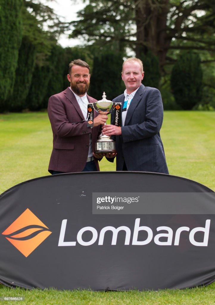 Wayne Sloan (a) and Andrew Manson from Edenmore Golf & Country Club winners of qualifier for the PGA Lombard Trophy at Carton House Golf Club on June 19, 2017 in Maynooth, Ireland.