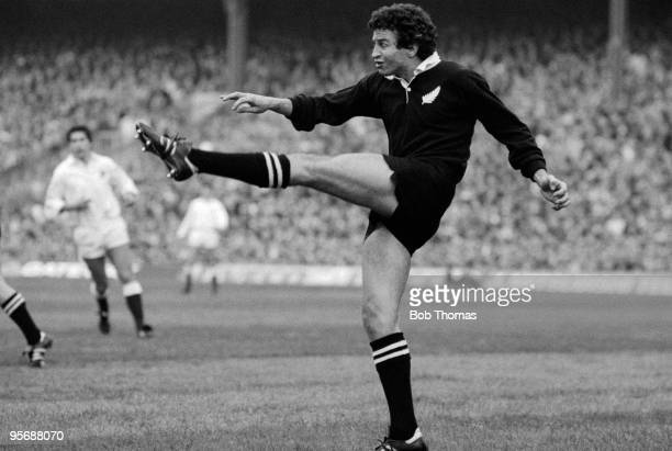 Wayne Smith of New Zealand in action against England in their Rugby Union International held at Twickenham London on 19th November 1983 England won...