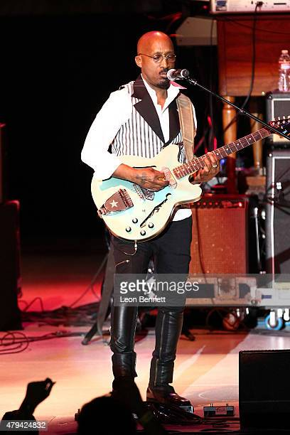 Wayne Wiggins of Tony Toni Tone performs at 947 The WAVE's Soulful Summer Concert at The Greek Theatre on July 3 2015 in Los Angeles California