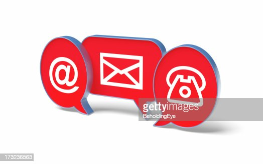 Contact Us Red >> 3d Ways To Contact Us Images In Red Stock Photo - Getty Images