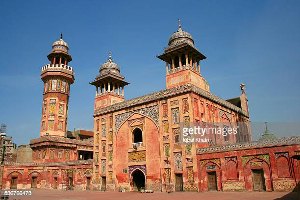 wazir khan masjid, lahore - mughal empire stock photos and pictures