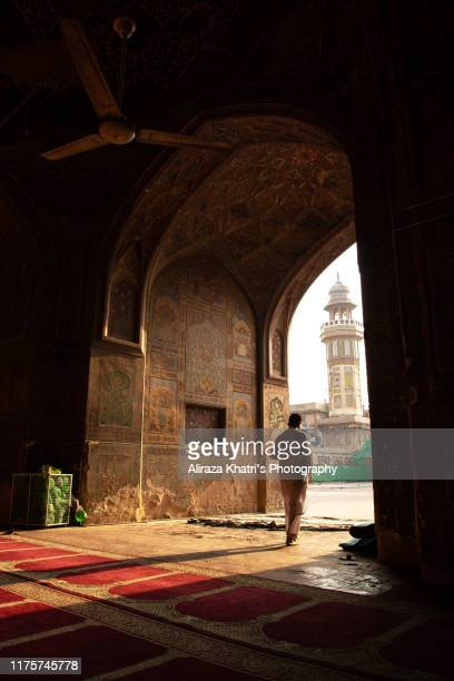 wazir khan mosque interior - pakistan stock-fotos und bilder