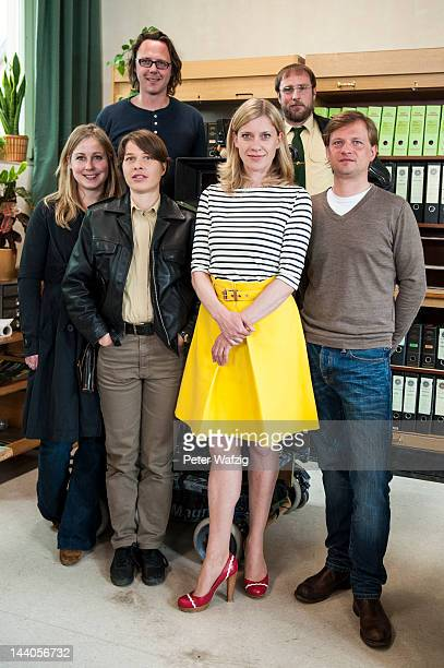 WDREditor Nina Klamroth actress Meike Droste director Christoph Schnee actress Caroline Peters actor Bjarne Maedel and producer Peter Guede pose...