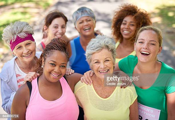 we all deserve to be our healthiest - mixed age range stock pictures, royalty-free photos & images