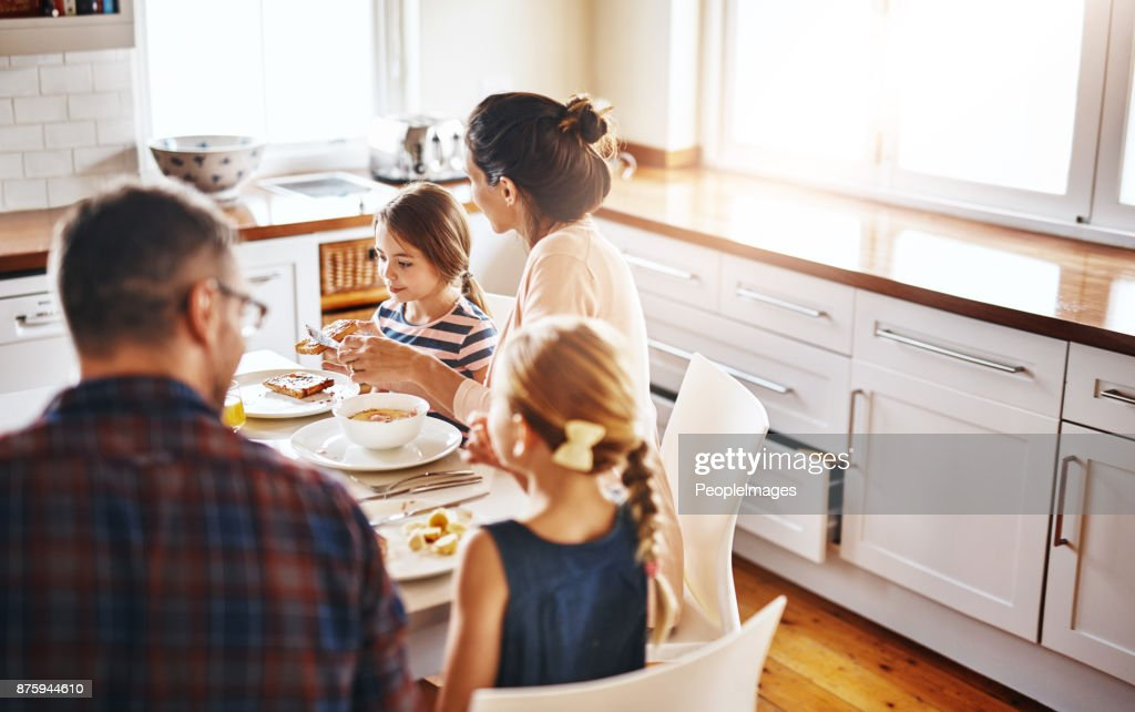 We all like different things for breakfast : Stock Photo