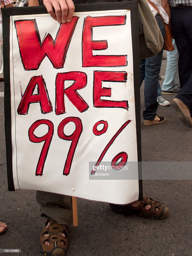 We are 99% : Stock Photo