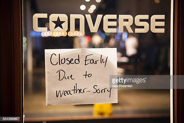 We are closing due the snowstorm
