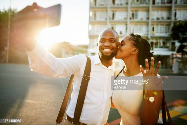 we are engaged now - black women engagement rings stock pictures, royalty-free photos & images
