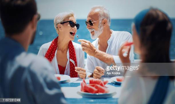 we are enjoying perfect summer vacation. - cruise vacation stock pictures, royalty-free photos & images