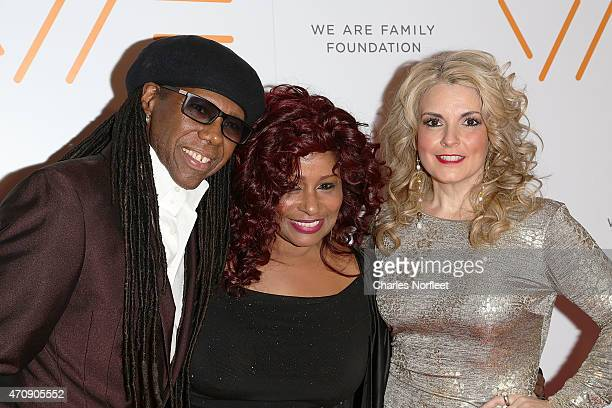 We Are Family Foundation Founder Nile Rodgers Honoree Chaka Khan and WAFF President Nancy Hunt attend the 2015 We Are Family Foundation Celebration...