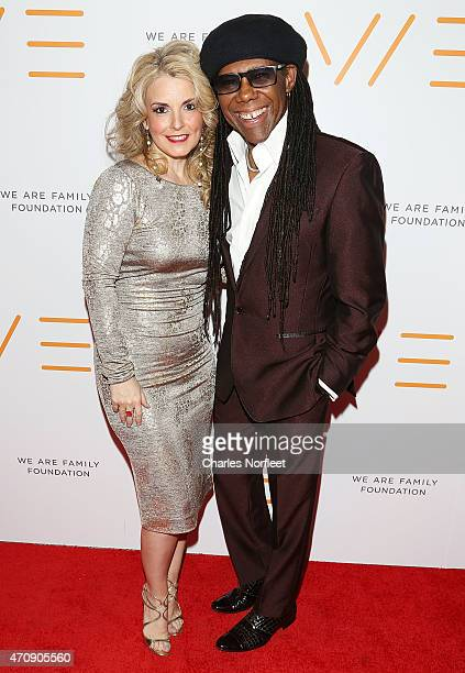 We Are Family Foundation President Nancy Hunt and WAFF Founder Nile Rodgers attend the 2015 We Are Family Foundation Celebration Galae at Hammerstein...