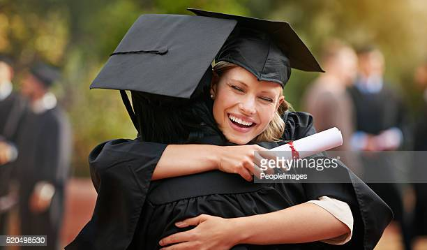 we are finally here! - diploma stock photos and pictures