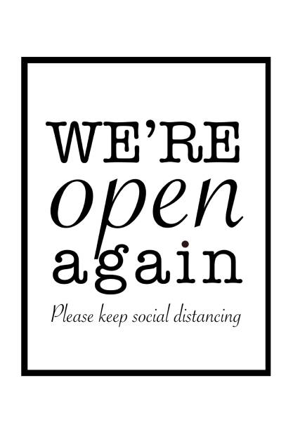 We are open again sign.