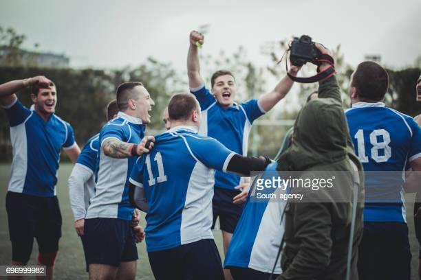 we are the champions - super rugby stock-fotos und bilder