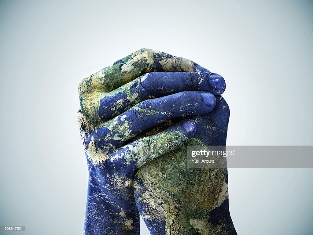 We are the world : Stock Photo