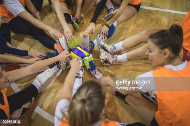we can do this together - high school volleyball stock photos and pictures