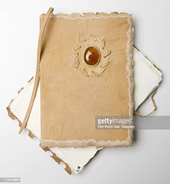 We can imagine taking these leatherbound notebooks to the mountains and sketching our hearts away Filled with decklededge heavy stock the books...
