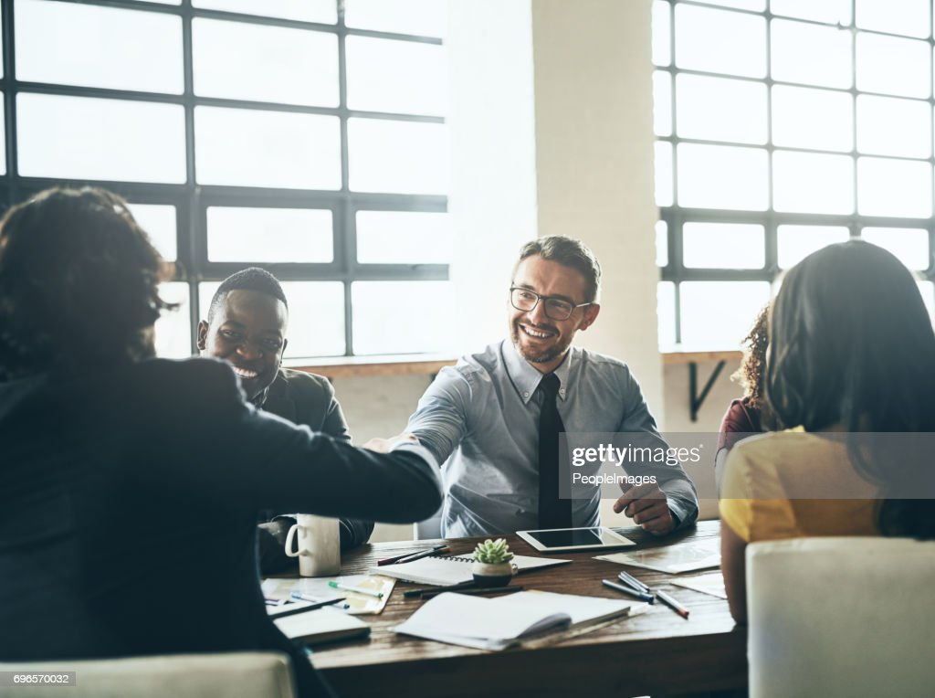We can't wait to work with you : Stock Photo