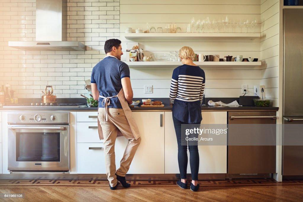 Cozinhar com amor : Foto de stock