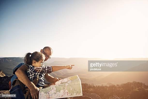Wir konnten die Karte oder folgen Sie der Sonne