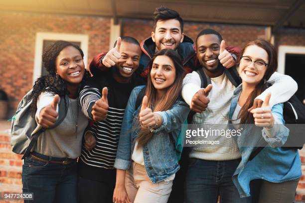 we give college life an a+ - thumb stock pictures, royalty-free photos & images