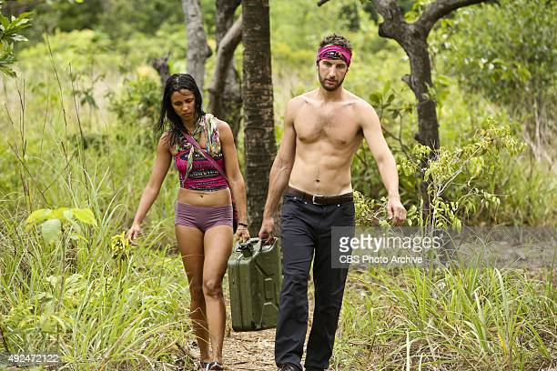 'We Got A Rat' Monica Padilla and Stephen Fishbach during the third episode of SURVIVOR Wednesday Oct 7 The new season in Cambodia themed 'Second...