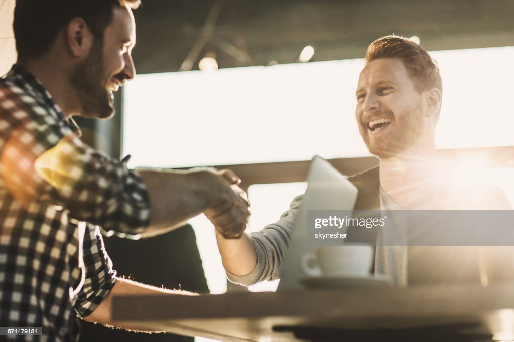 We have a deal! : Stock Photo