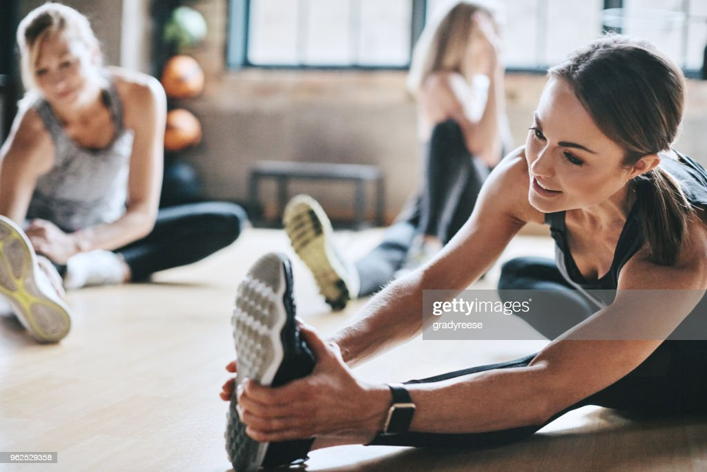 We have to limber up before a workout : Stock Photo