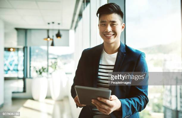we keep things digital around here - handsome chinese men stock pictures, royalty-free photos & images