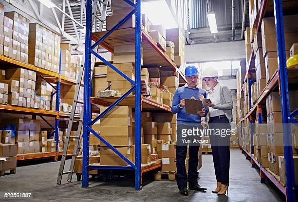 Wir wissen, in der jeder Bestellung im Warenlager