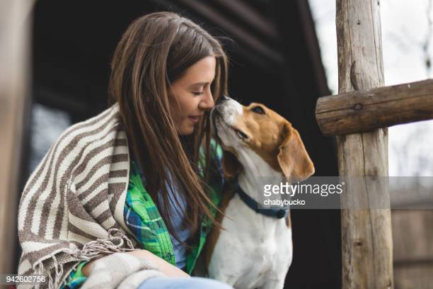 we love each other - pet owner stock pictures, royalty-free photos & images