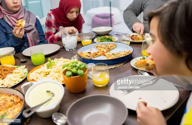 we love food together - iftar stock-fotos und bilder