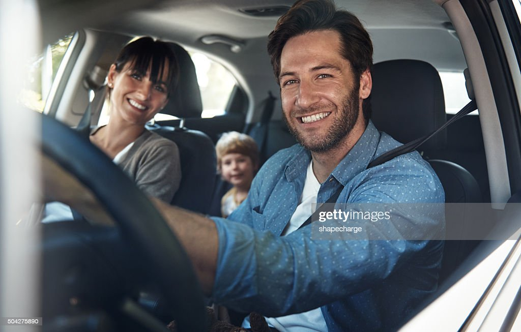 Nos encanta la familia roadtrips : Foto de stock
