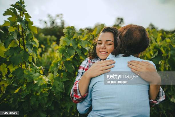 We love to be together in our vineyard