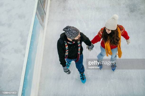 we love to skate - ice skate stock pictures, royalty-free photos & images