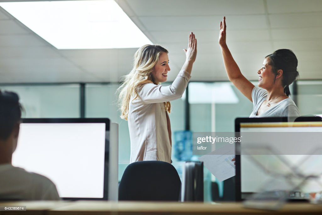 We made it! : Stock Photo
