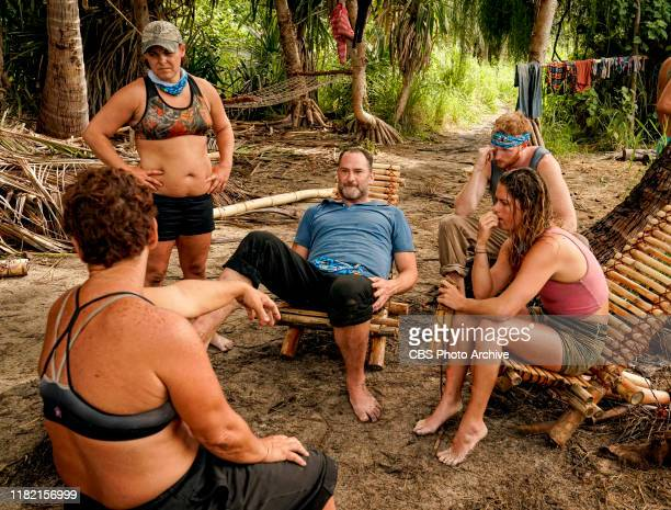 We Made It to the Merge Elaine Stott Dan Spilo Tommy Sheehan and Elizabeth Beisel on the Eighth and Ninth episodes of SURVIVOR Island of Idols airing...