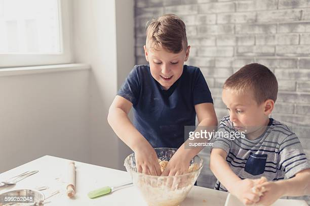 We make cookies togather