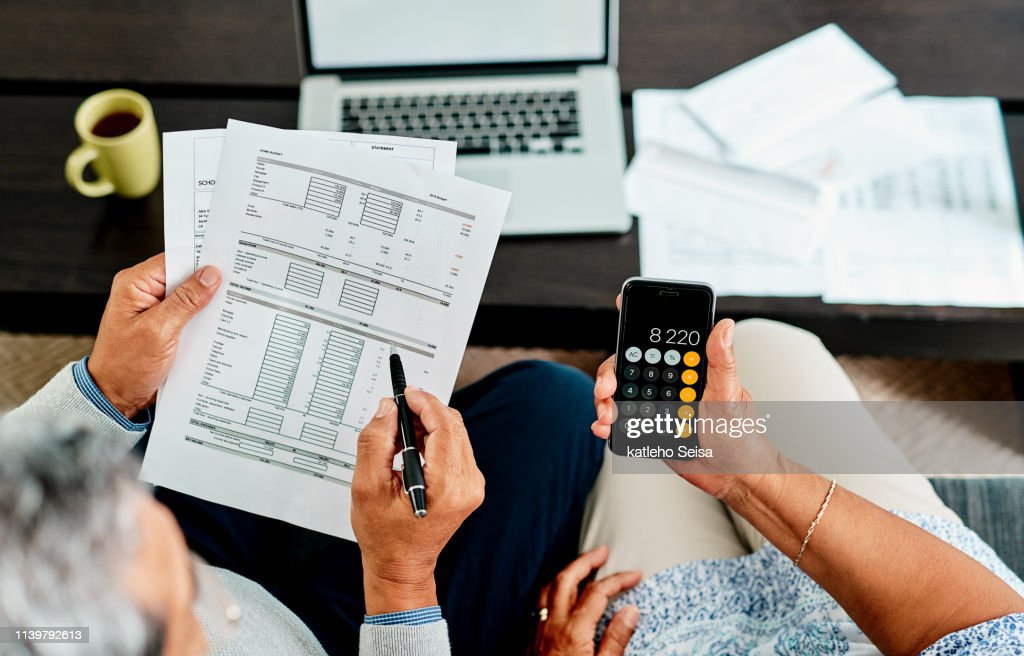 We need to make all our numbers balance : Stock Photo