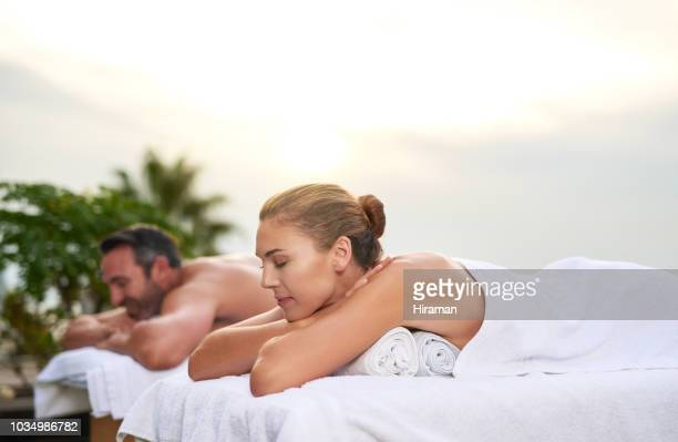 we needed this - husband massage wife stock photos and pictures