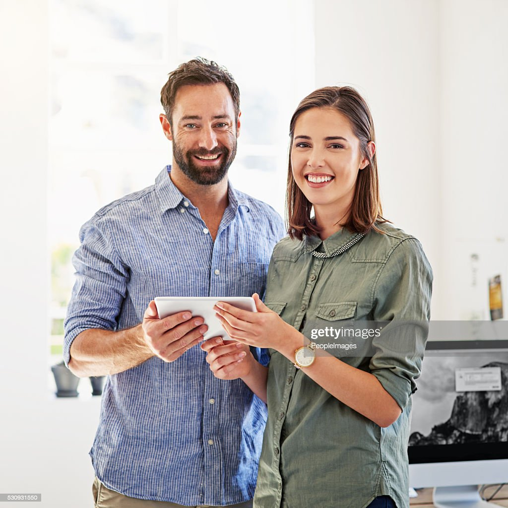 We share ideas and success : Stock Photo